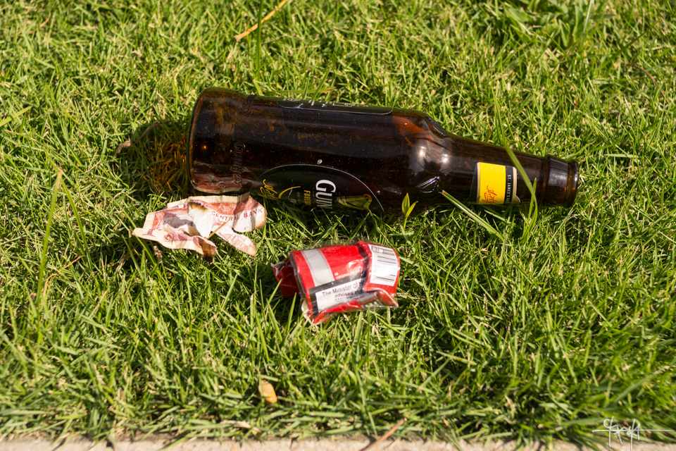 Image Caption: Discarded Items sit in the grass along Independence Square, Port of Spain. October 3rd, 2015.—Click to read this article.
