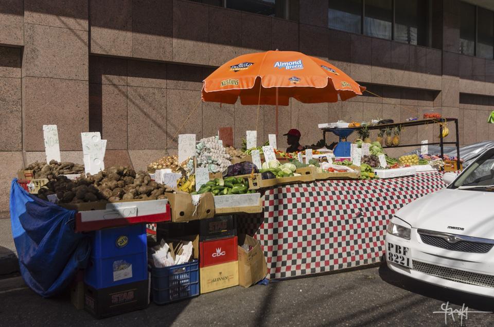 Vending along Charlotte Street