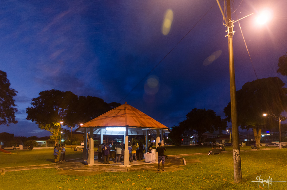 Image Caption: Twilight falls over the gazebo of Woodbrook Playground. January 1st, 2016.—Click to read this article.
