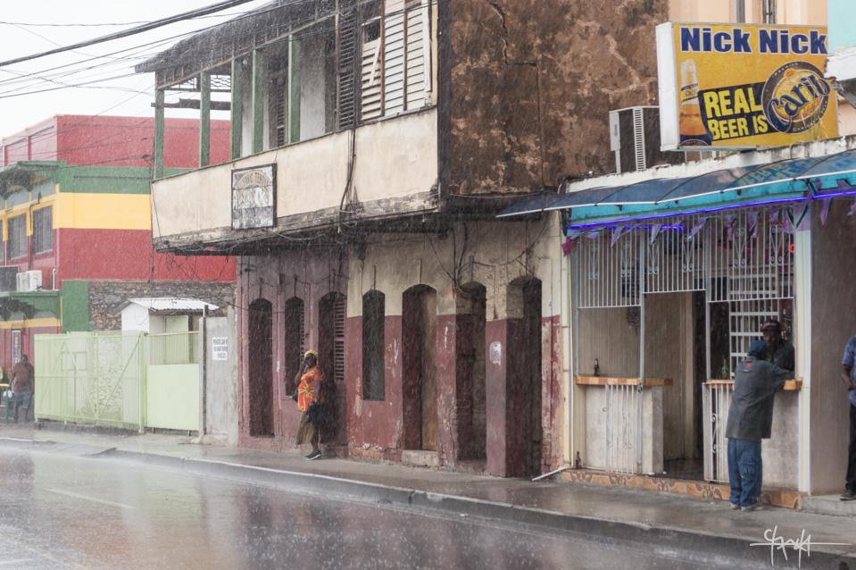 Rain on Duke Street, Port of Spain. April 4th, 2016.