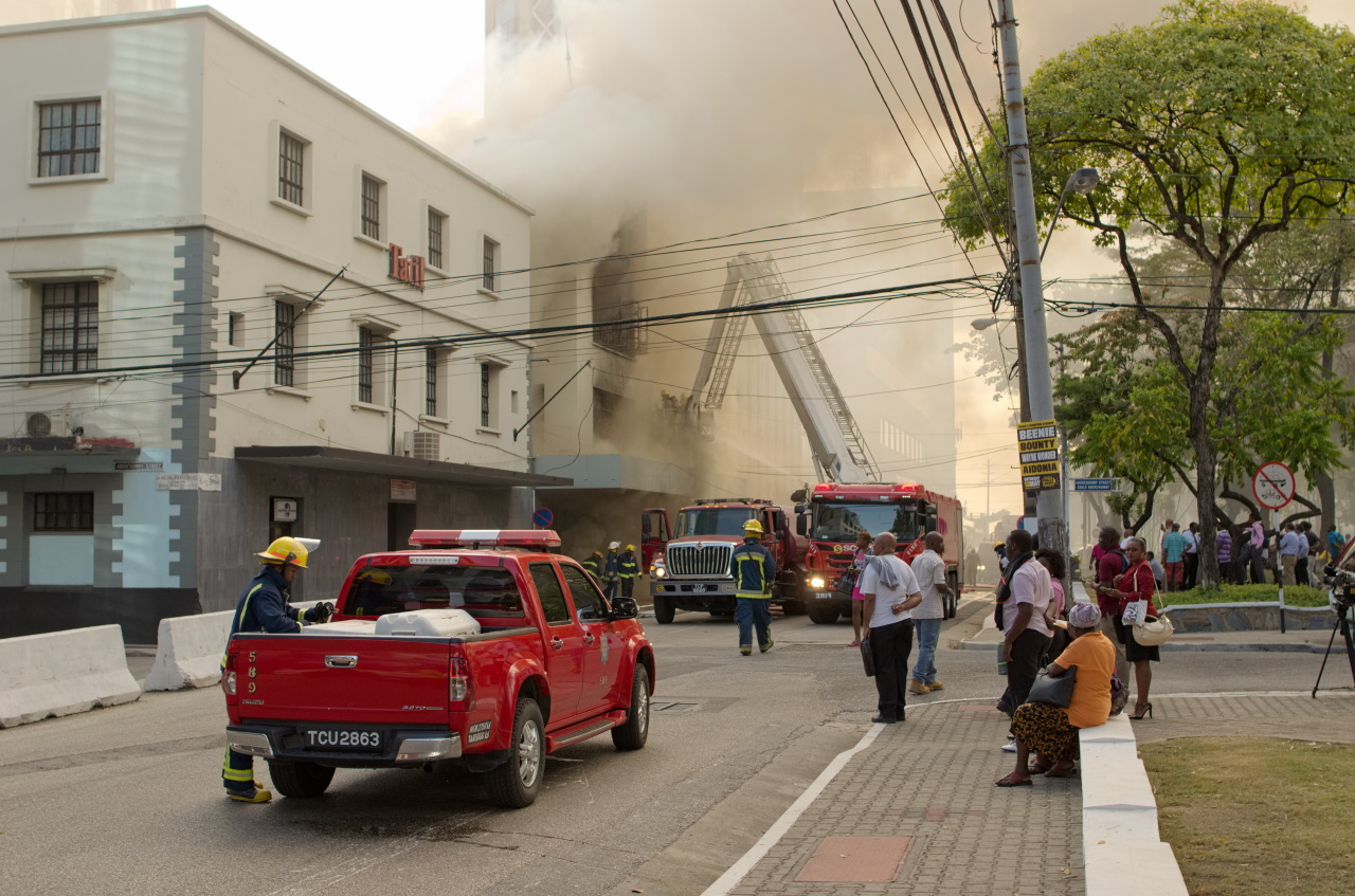 Fire on Independence Square