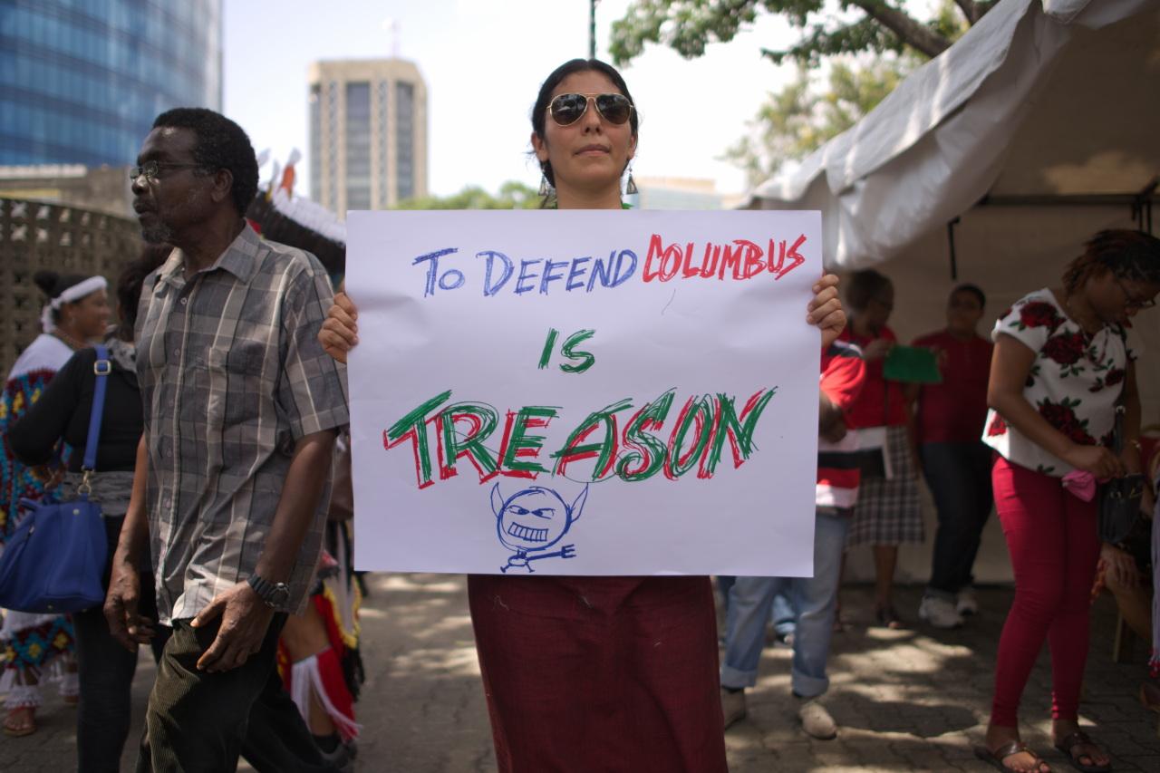 """To Defend Columbus is Treason"""